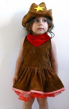 Twinkle Things TKK13A 0-12 Yaş Kovboy Kız Bebek ve Çocuk Kostümü