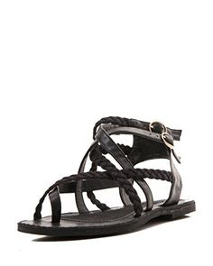 e443edd708ad91 Gomax Womens Grecian 26 Gladiator Buckled Flat Sandal 65 Black    You can  get more details by clicking on the image.(This is an Amazon affiliate link  and I ...