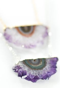 Koa necklace amethyst slice silver druzy by www.kealohajewelry.etsy.com maui, hawaii