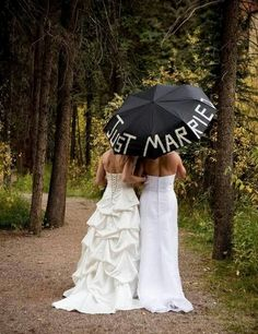 Cute Lesbian Wedding Ideas. Make your special day and your ceremony more enjoyable and memorable for you both and your guests. http://hative.com/cute-lesbian-wedding-ideas/