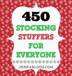 450 Stocking Stuffer Ideas! #stocking #gift #Christmas