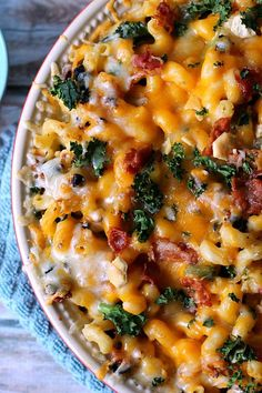 Bacon & Kale Creamy Mac and Cheese