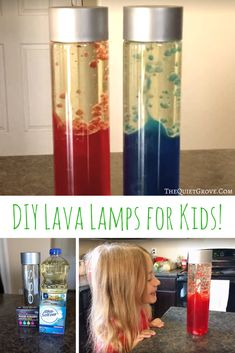 DIY Lava Lamps for Kids! Are you looking for a fun Science Experiment to do with your kids? Science Projects For Kids, Science Crafts, Science Activities For Kids, Diy Crafts For Kids, Diy Projects, Craft Ideas, Kids Diy, Summer Activities, School Projects