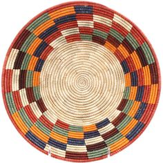 Bold, geometric designs are the hallmark of these African baskets from Uganda. Tightly woven raffia and millet results in a beautiful, smooth finish. Rope Basket, Basket Weaving, African Pottery, Glass Bottle Crafts, African Textiles, Market Baskets, Beaded Animals, Mandala Coloring, Baskets On Wall