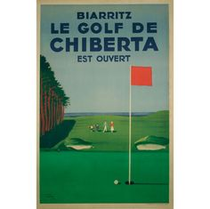 Vintage French Golf Poster, 1948