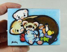 Ferret Art Print Block, Shelly Mundel Art #FerretArt