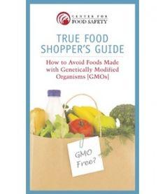 """true food shopper's guide- gmo & non-gmo's listed by brand"""""""