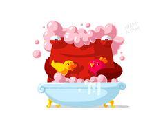 I love to take a bath!)