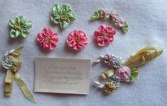 Vintage Boag Silk Ribbon Flowers - 1920s - Lot of Tiny Flowers & Arrangements #Boag