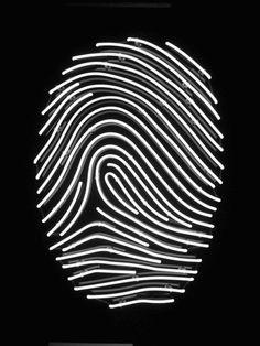 Fingerprint. Black & White. Light. Neon. Night. Lines. Individual. Mark. Special. Fresh. Art. Harmony. Modern. Sign. defringe.tumblr.com/