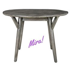 Mira Round Dining Table in Distressed Grey Round Dining Table, Mango, Dining Room, Grey, Wood, Classic, Furniture, Home Decor, Manga