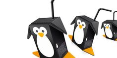 super cute design for waddling penguin juice boxes by matt ottdal of the design company jeksel