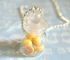When life gives you lemons, wear them! Jar of Lemons Necklace