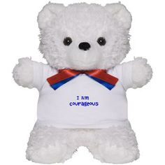 Get the cute and cuddly I Am Courageous Teddy Bear.. A great stocking stuffer for the little one in your life!