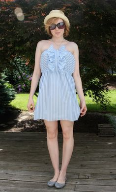 798d529f394 DIY  Men s Shirt to Cute Summer Dress - Chic Creative Life Shirt Refashion