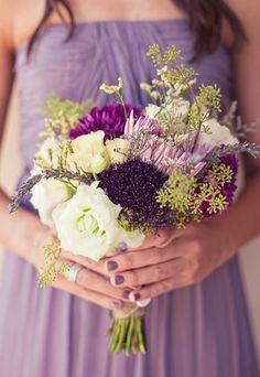 Flower bouquet. Beige, bouquets, gerber daisy, lavender, mauve, plum, purple, romantic , rose, Spring, Summer