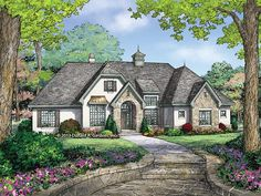 ePlans French Country House Plan – French Country Cottage – 1856 Square Feet and 3 Bedrooms from ePlans – House Plan Code HWEPL77458