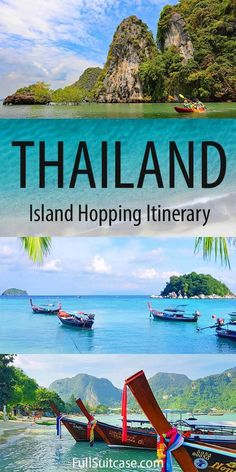 Thailand Island Hopping: Epic Itinerary & Tips - Thailand Island Hopping: Epic Itinerary & Tips How to plan an island hopping trip in Thailand and see the most beautiful islands such as Koh Lipe, Koh Lanta, Koh Phi-Phi, Krabi, and more. Find out! Thailand Travel Guide, Visit Thailand, Asia Travel, Backpacking Thailand, Trip To Thailand, Thailand Itinerary 2 Weeks, Thailand Honeymoon, Croatia Travel, Bangkok Thailand
