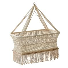 Handmade Luxury Macrame Bassinet - Natural Nursery - T&W Blended Events Diy Couch, Couch Cushions, Bassinet Cover, Chelsea Baby, Hanging Crib, Natural Nursery, Baby Announcement Photos, Vintage Baby Clothes, Baby Girl Crochet