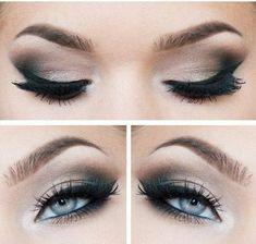 comment faire un maquillage yeux bleus