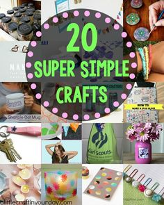 I've rounded up 20 of my favorite Super Simple Craft Ideas, you're going to love them! There are crafts perfect for everyone in here!