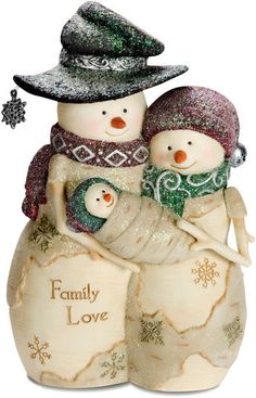 Highly detailed figurine, hand painted Comes attractively packaged, makes for a great gift Made with Polyresin Measures - 2.25 L x 2.25 W x 6 H The Birchhearts is a collection of snowman figurines, or