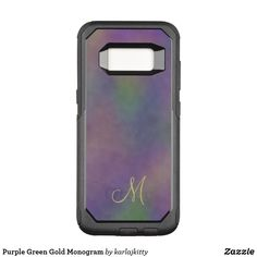 With a Samsung Galaxy case from Zazzle you can protect your new phone & make sure it lasts until the next iteration. Electronics Accessories, Electronics Gadgets, Galaxy S8, Samsung Galaxy, New Phones, Green And Gold, Custom Design, Lunch Box, Monogram