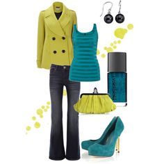 """Wedge of Lime"" by blue-star-marie on Polyvore    Love the bright crazy colours!"