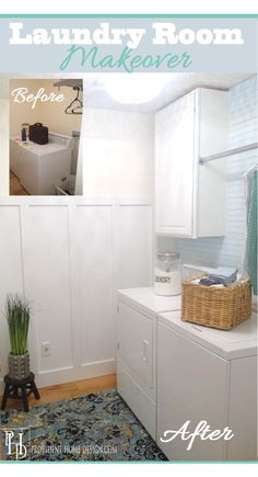 Laundry Room Makeover on a Budget! Lots ideas in this post for your next makeover!