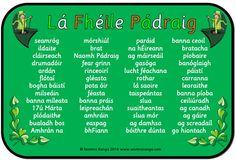 The Primary Education Hub Irish Gaelic Language, Gaelic Words, Gaelic Irish, Primary Teaching, Primary Education, Teaching Resources, Teaching Ideas, Speaking In Tongues, English Class