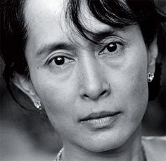 Aung San Suu Kyi--winner of the Nobel Prize and a Burmese advocate for peace and liberty