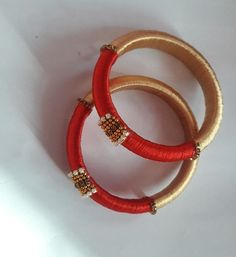 Bangle Silk Thread Bangles, Thread Jewellery, Textile Jewelry, Jewellery Making, Gold Jewellery, Thread Bangles Design, Thread Art, Blog Topics, India Jewelry