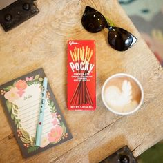 Pocky and your favorite latte make the perfect pair!   :@audreyhirschl