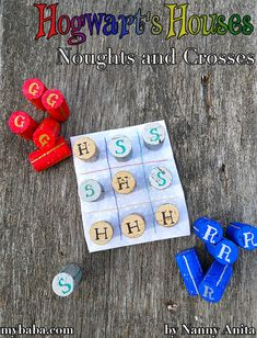 Hogwart Houses Noughts and Crosses / tic-tac-toe diy crafts Fun Crafts, Arts And Crafts, Harry Potter Theme, Tic Tac Toe, Busy Bags, Hogwarts Houses, Sensory Play, Educational Activities, Crosses