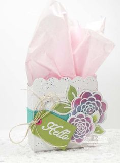 Sweet Roses; Roses and Leaves Die-namics; Scalloped Treat Box Die-namics; Blueprints 2 Die-namics - Tara Godfrey