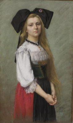 costume alsacien avec croix Alsace, Costume Français, Costumes, French Costume, Strasbourg, Lorraine, Traditional Dresses, Culture, Portrait