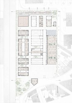 Image 24 of 24 from gallery of Kengo Kuma and OODA Win Competition to Redevelop Porto Slaughterhouse. Courtesy of Kengo Kuma & Associates + OODA Win Competitions, Kengo Kuma, Architecture Plan, Floor Plans, How To Plan, Gallery, Design, Models, Drawings