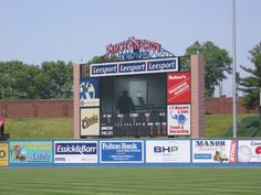 Scoreboard at Reading Phillies