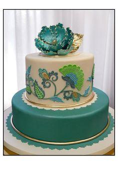 Jacobean Style cake by Swank cake designs