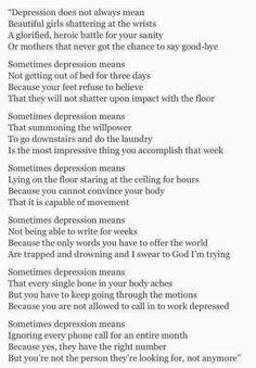 Depression means