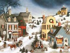 """LANG -""""Caroling in the Village"""", Boxed Christmas Cards, Artwork by Linda Nelson Stocks"""" - 18 Cards, 19 envelopes - x Boxed Christmas Cards, Christmas Scenes, Christmas Villages, Christmas Photo Cards, Christmas Pictures, Christmas Art, Simple Christmas, Western Christmas, Christmas Town"""