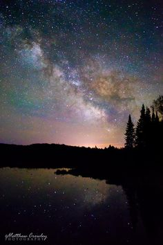 milky way at devil's lake wisconsin | The Milky Way over Helen Creek, near Land O' Lakes, WI.