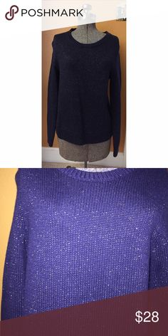 NWT Metallic Navy Blue Sweater GAP Sz M NWT. Navy blue sweater with metabolic threading. Great for the holidays and cooler weather. Sz M GAP Sweaters Crew & Scoop Necks