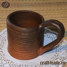 Кружка керамическая - гончарная посуда, ручная работа в интернет-магазине Рукоделец #рукоделец #магазин #handmade #керамика #кружка #pottery #керамическая_посуда