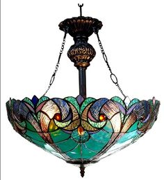 Tiffany-Style Victorian Stained Glass Light Fixtures