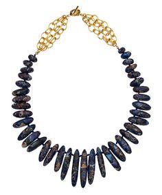 Janna Conner Gold Jasper Razi Necklace #maxandchloe