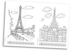 Paris et la tour Eiffel