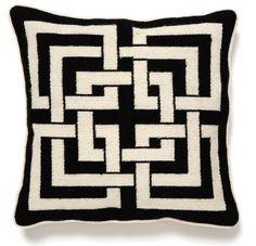 Trina Turk Black Shanghai Links Needle Point Pillow by Peking Handicraft, http://www.amazon.com/dp/B00859V9US/ref=cm_sw_r_pi_dp_I9TNqb0P733S6