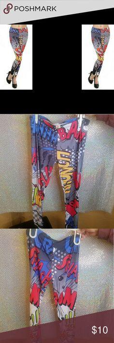 Comic Leggings Comic Leggings. New never sold or worn. Pants Leggings