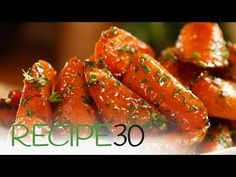 Roasted Glazed Carrots - Easy Meals with Video Recipes by Chef Joel Mielle - Side Dish Recipes, Wine Recipes, Cooking Recipes, Easy Recipes, Vegetable Side Dishes, Vegetable Recipes, Vegetarian Recipes, Salad, Kitchens